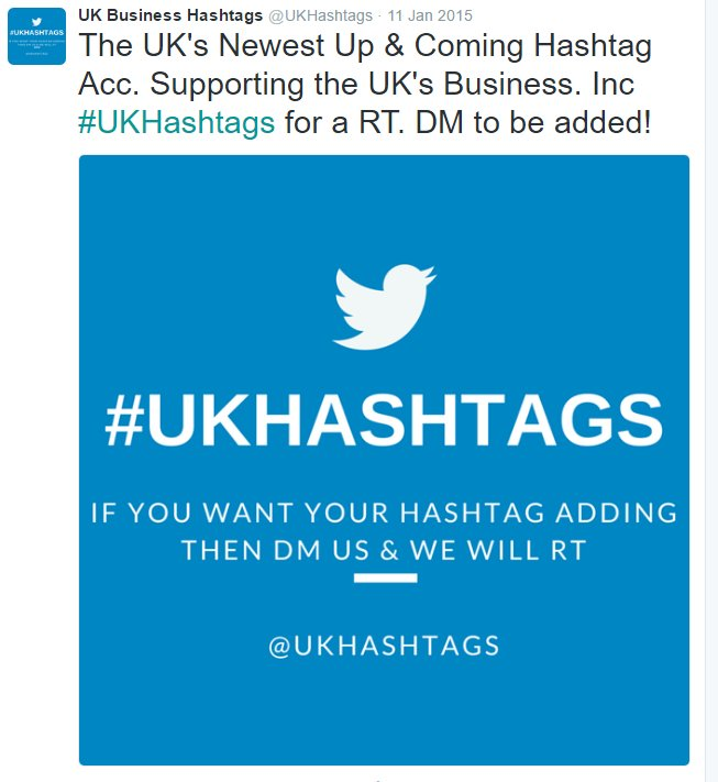 Would you like your own hashtag adding to our RT database? DM for more info!  #UKHashtags #Bizitalk #ATSocialMedia<br>http://pic.twitter.com/06Tt4I8jWZ