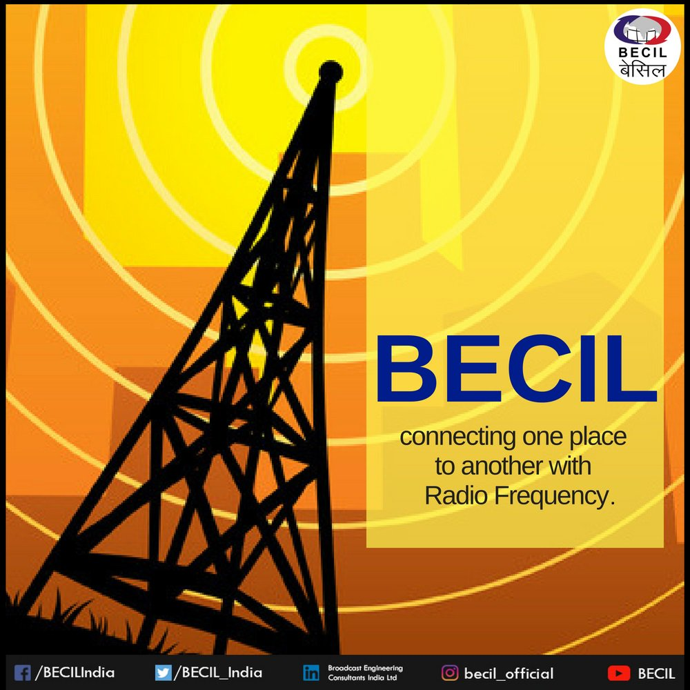 With the fastest #RadioFrequency services, #BECIL is #connecting places with different cultures together. <br>http://pic.twitter.com/WuFgPnIdo6