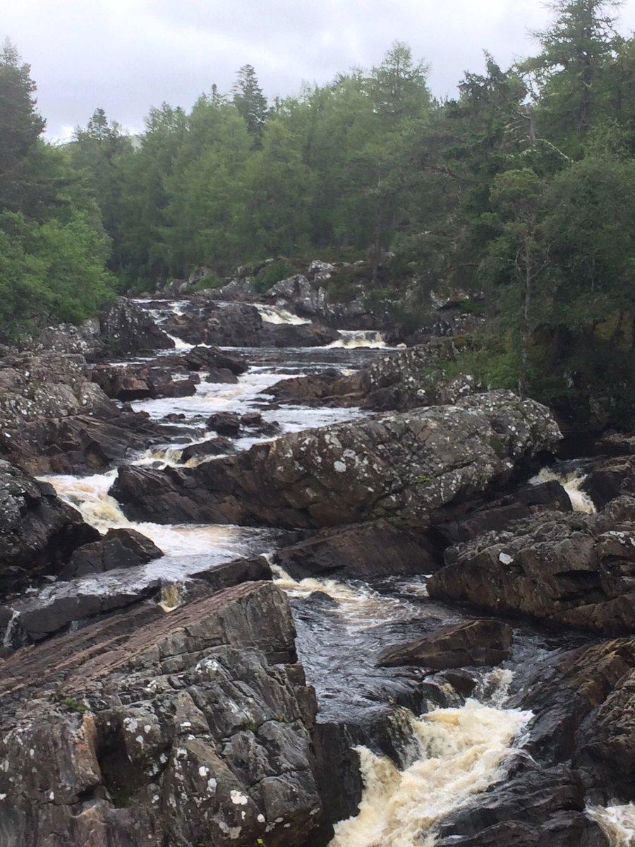 Scotland. Beautiful spate river. <br>http://pic.twitter.com/cBVa5hjrE6