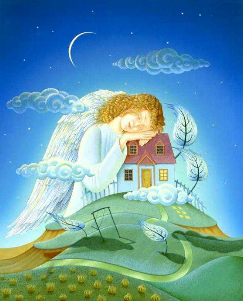 Православные картинки с ангелами спрокойной ночи, футболки принтом