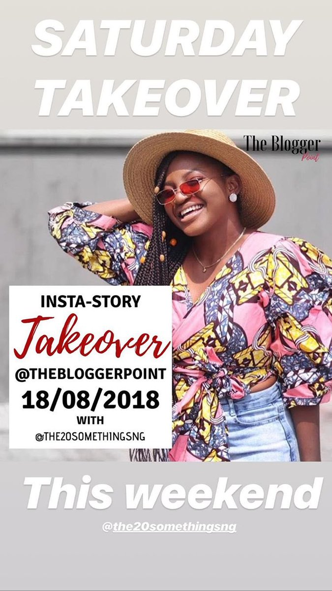 Takeover has started! Follow, watch and show @Ugochi_V some love on Instagram @thebloggerpoint   And you should also follow @thebloggerpoint here for all the blogging tips you need <br>http://pic.twitter.com/ct7bSkq87g
