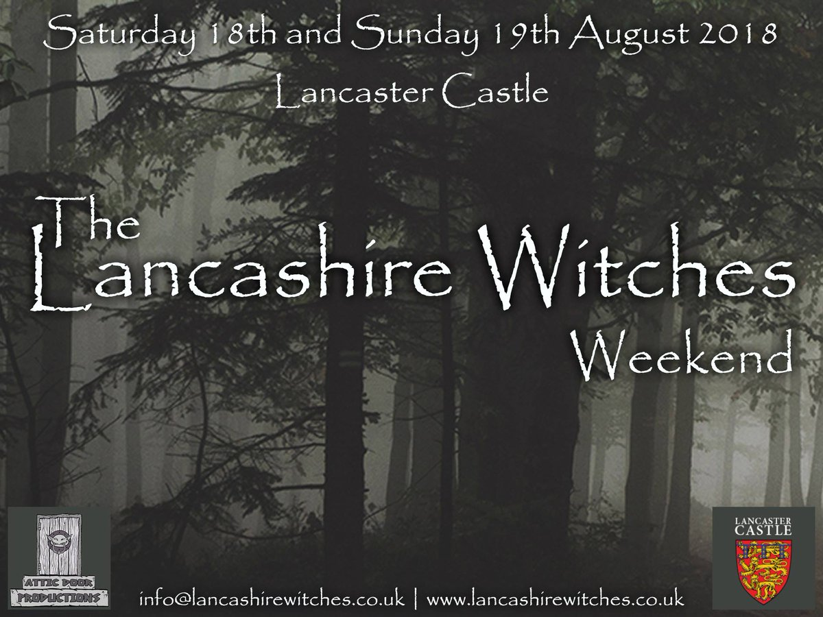 Today&#39;s the day!  Get yourself and the family down to @LancCastle for a full day of witchcraft, wizardry and accessible, entertaining history!  The Lancashire Witches Weekend today and tomorrow. <br>http://pic.twitter.com/7Or8KuWyUC