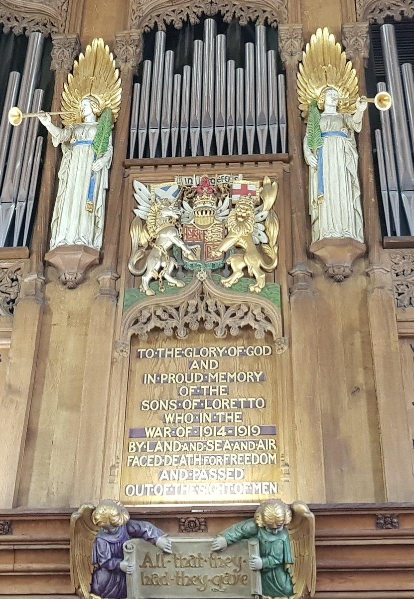 Rehearsing in Loretto School Chapel #Edinburgh for Duruflé Requiem tomorrow in St. Giles. Among memorials of the 1914-1919 dead. #edinburghfestival @RTEPhilChoir #1918 centenary
