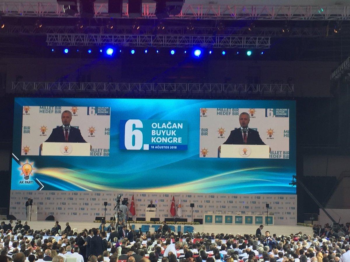 AK Parti'nin 6. Olağan Büyük Kongresi Genel Başkan Yardımcısı Mustafa Ataş'ın konuşması ile resmen başladı.