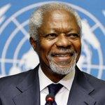 Kofi Annan Twitter Photo