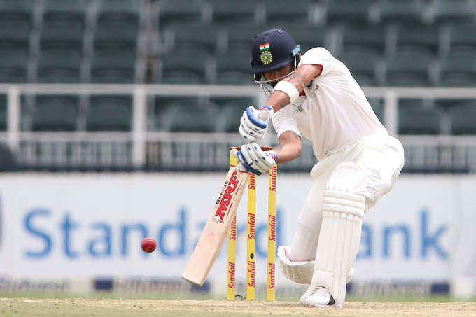 FIFTY! Captain @imVkohli leading from the front, brings up his half century off 74 deliveries. #ENGvIND pitch Photo