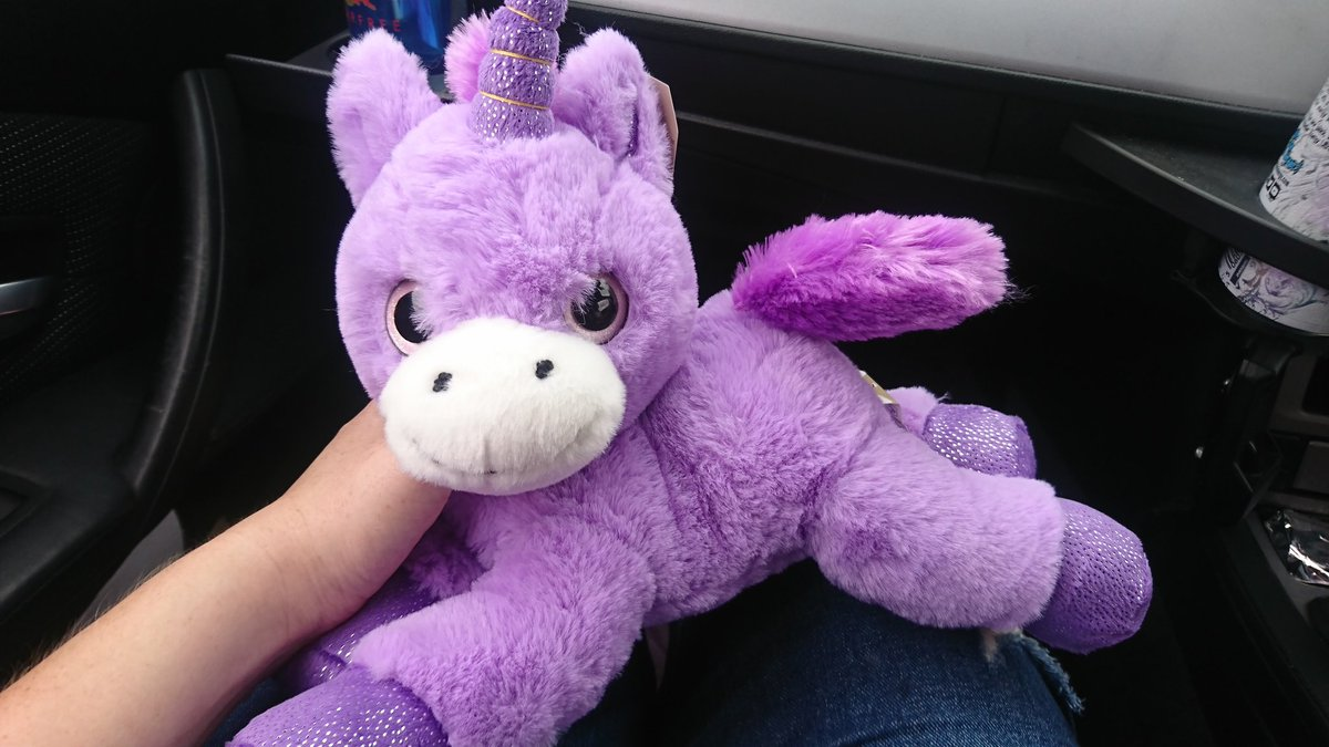 This is Freddie. We won him in the arcade by being very mediocre on ticket machines and I love him.