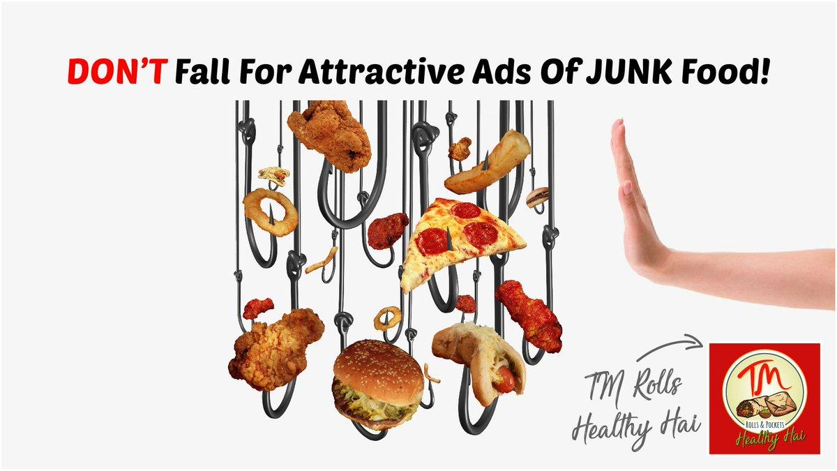 tmrollsnpockets SAY NO TO JUNK FOOD! TM Rolls Healthy Hai