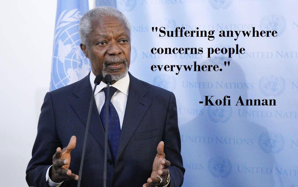 Thank you, #KofiAnnan. Well done. Rest high.