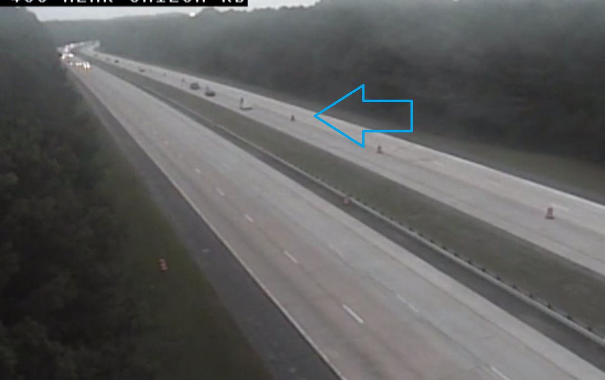 Forsyth Co: GA 400/nb from McFarland Pkwy (exit 12) to Hwy 20 (exit 14); right lane blocked by road work; expect delays wsbradio.com/traffic #ATLtraffic