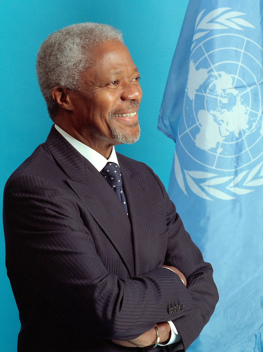 """""""In these turbulent and trying times, he never stopped working to give life to the values of the United Nations Charter. His legacy will remain a true inspiration for all of us."""" — @AntonioGuterres on the passing of @KofiAnnan, 18 Aug 2018"""