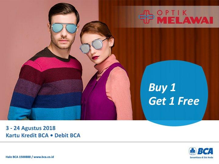 """Kartu Kredit BCA على تويتر: """"Buy 1 Get 1 Free! Kunjungi Optik Melawai dan Optik Keluarga terdekat untuk mendapatkan promo #BCALifestyle dengan ..."""