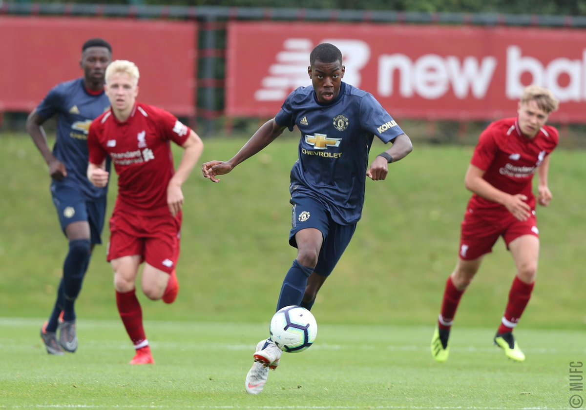 #MUAcademy U18s: FT – Liverpool 1 #MUFC 3. Goals from Di'Shon Bernard, Mason Greenwood and James Garner (penalty) earn Neil Ryan his first competitive win in charge. Both sides finished with 10 men after red cards for Brandon Williams and Liverpool's Abdi Sharif.