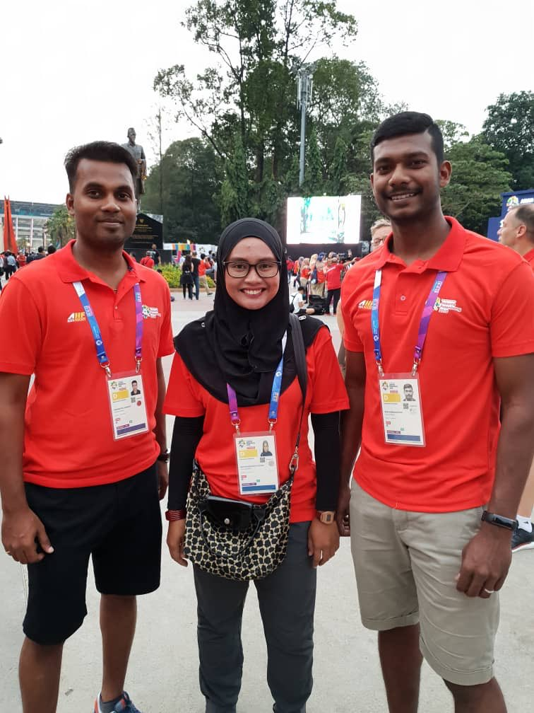 All the best to Our Umpires in the Asian Games! NurHafizah Azman K Ilanggo R Anbananthan   Fly our flag high <br>http://pic.twitter.com/z1K8MppetC