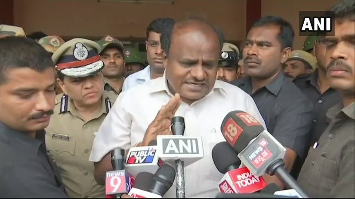 Situation is under control, district administration is taking proper care. Nearly 60 people are stuck in a village in Kodagu and Indian Army has reached there. We are arranging helicopters but the weather is not allowing us to fly: Karnataka Chief Minister #KarnatakaRains (ANI)<br>http://pic.twitter.com/7S9GEAVQ2K