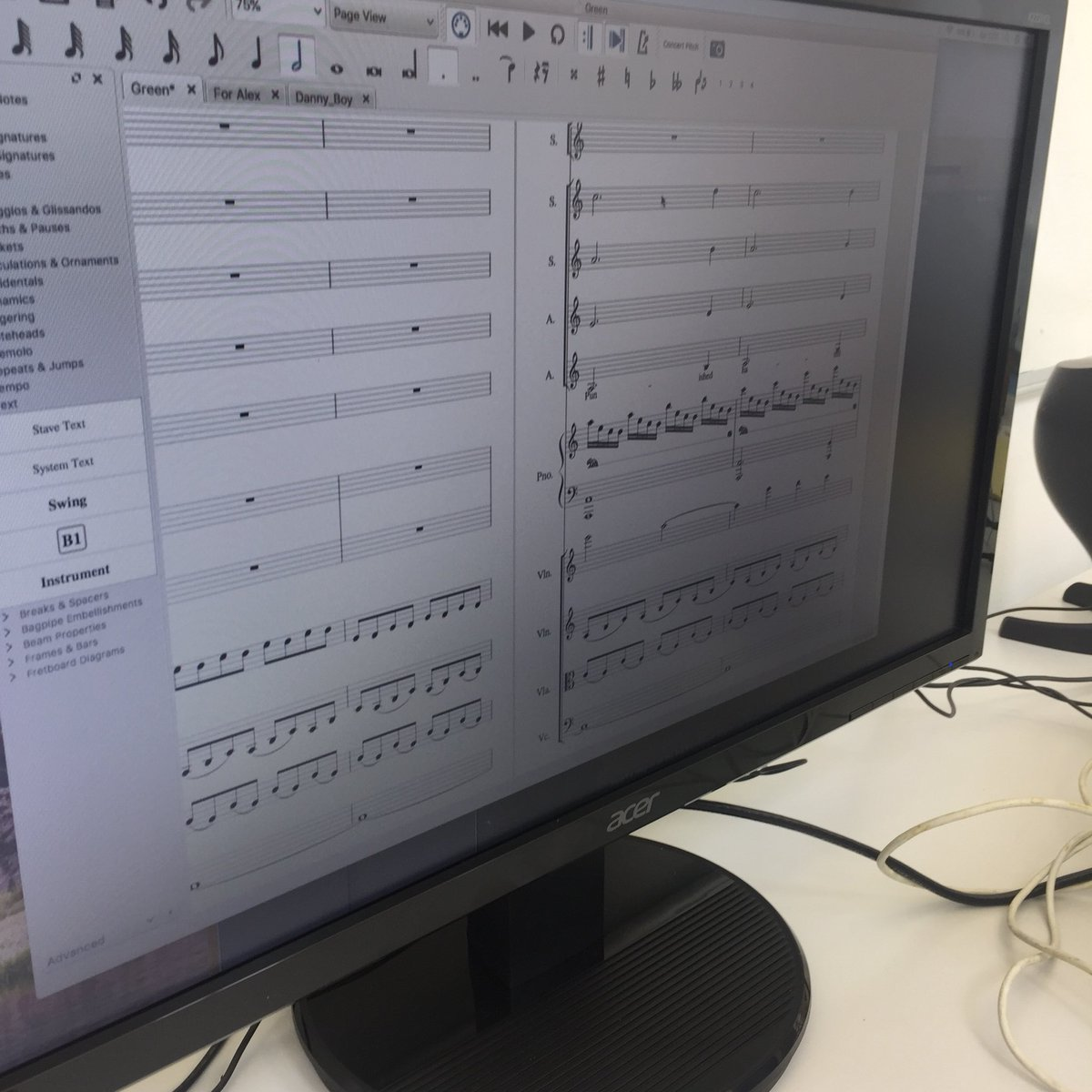 test Twitter Media - @CrescentArts with @Keith_Acheson. Very exciting stuff composing and writing the libretto for 18. Catch the full performance @CrumlinRoadGaol 15 Sept #suffrage #cityofmusic @belfastcc #choral 🙀we're working! #artsmatterni https://t.co/gtDb5BQimq