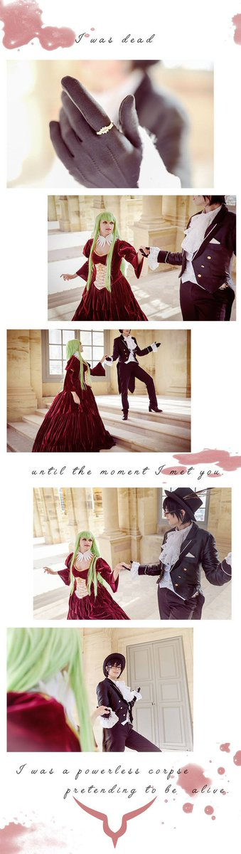 1st pictures of our last #codegeass photoshoot !  With @LyneCosplay as C.c  Story like pics really my fav thing to do ! #codegeasscosplay #codegeassr1 #lelouchlamperouge #lelouchcosplay #ccCosplay #c2 #clamp #codegeasscc #codegeasslelouch #lelouchvibritannia