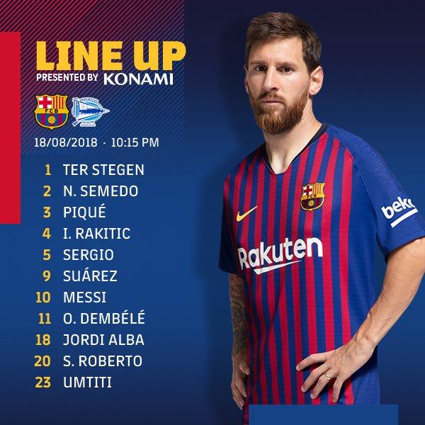 ���� Barça XI ⚽ #BarçaAlavés https://t.co/K7EaWu7FYc