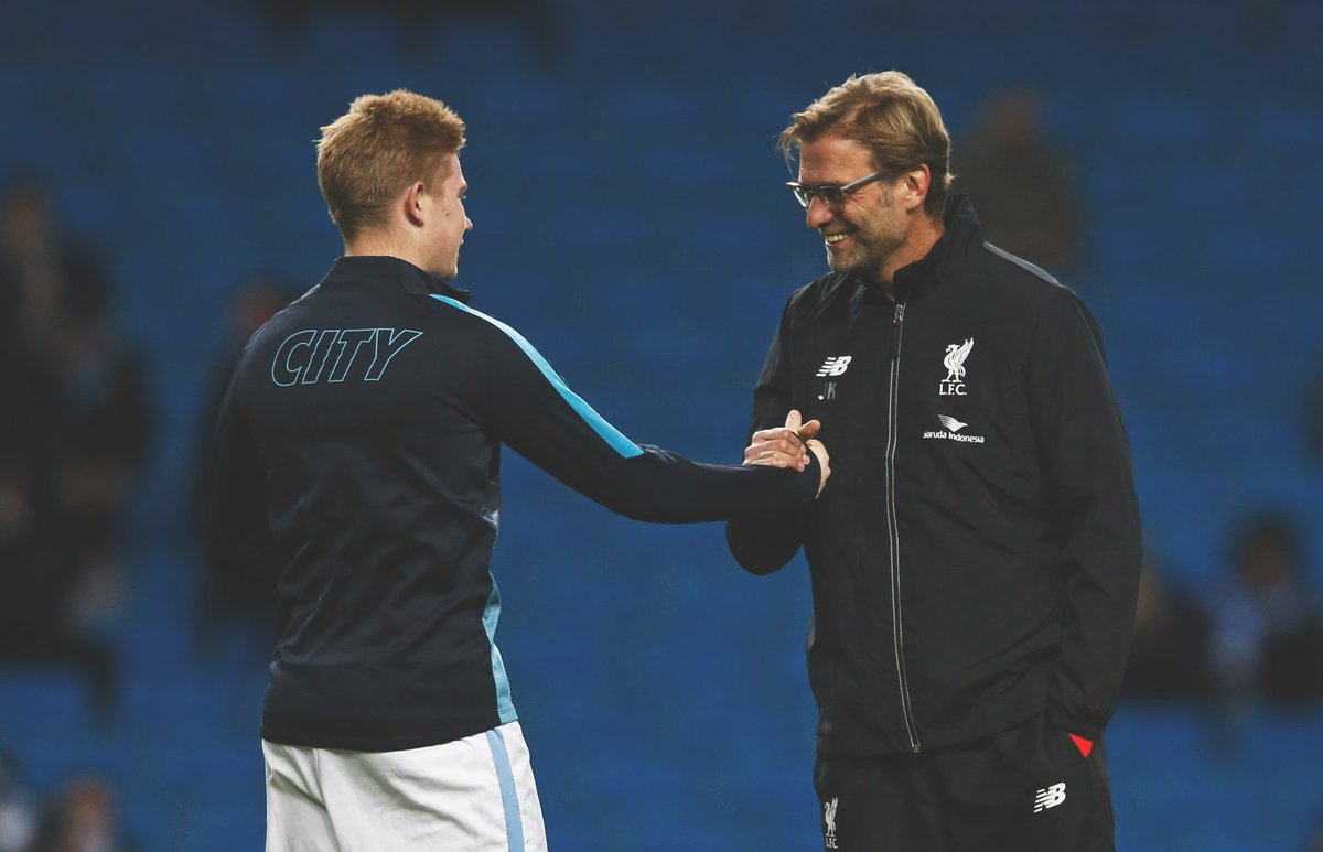I absolutely love this player - I wanted him desperately when I was at Dortmund. What a World Cup he had. Anyone thinking about De Bruynes injury and levelling the playing field is an a**hole. I wish him a speedy recovery. I really feel for him. - Jürgen Klopp