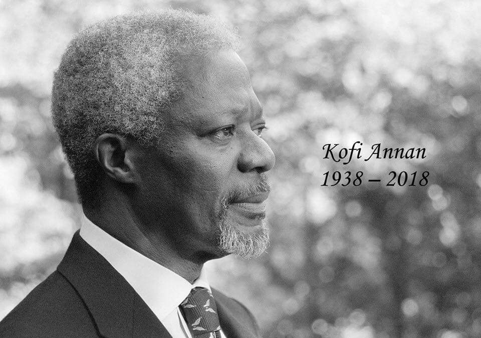 The World Mourns Kofi Anan.....Rest On 🙏🏻 @KofiAnnanFdn @KofiAnnan @UN @UNDPNigeria @UnderSecPD