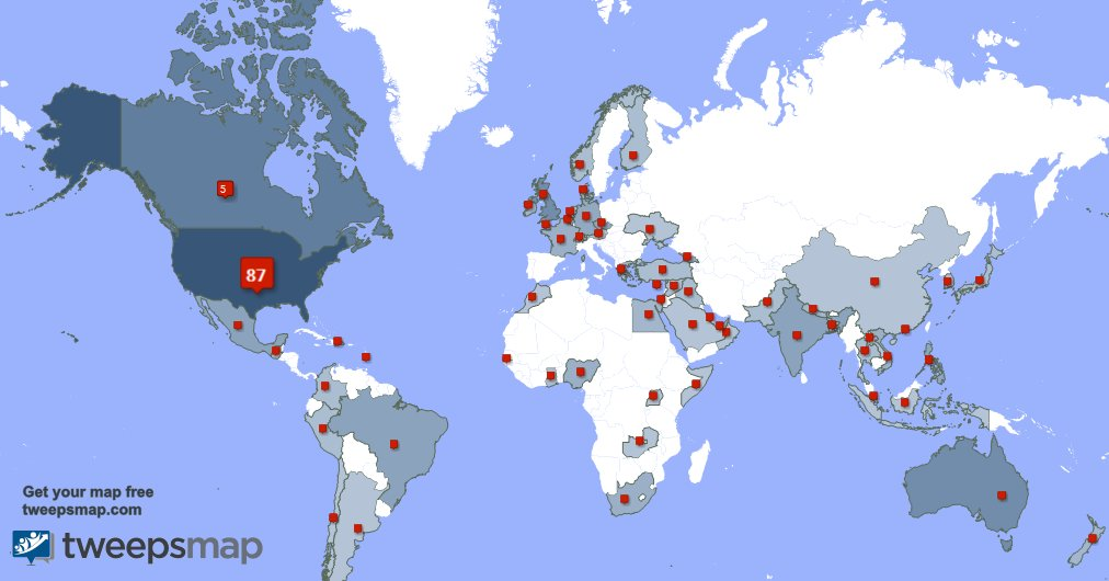 Special thank you to my 26 new followers from USA, and more last week. tweepsmap.com/!SylviaEllison .