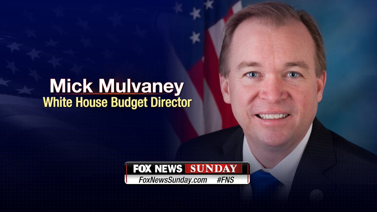 TODAY: Don't miss @MickMulvaneyOMB on @FoxNewsSunday. Tune in to Fox News Channel at 2p ET and 7p ET!
