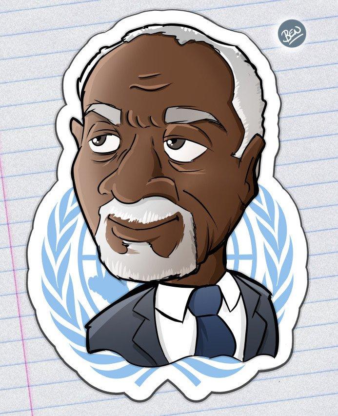 Mi pequeño homenaje a Kofi Annan. My tribute to Kofi Annan. #BEN