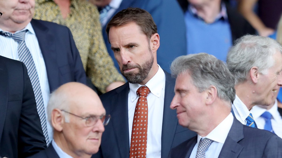 Out and about! Gareth Southgate was at Goodison Park today – it's under two weeks until he names the #ThreeLions squad for next month's games against Spain and Switzerland.
