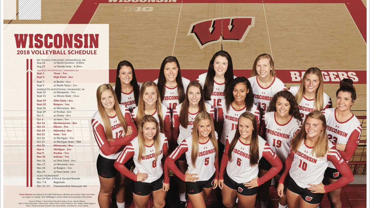 Wisconsin Volleyball On Twitter Peep The New Poster Get Yours Today Badgers Fans