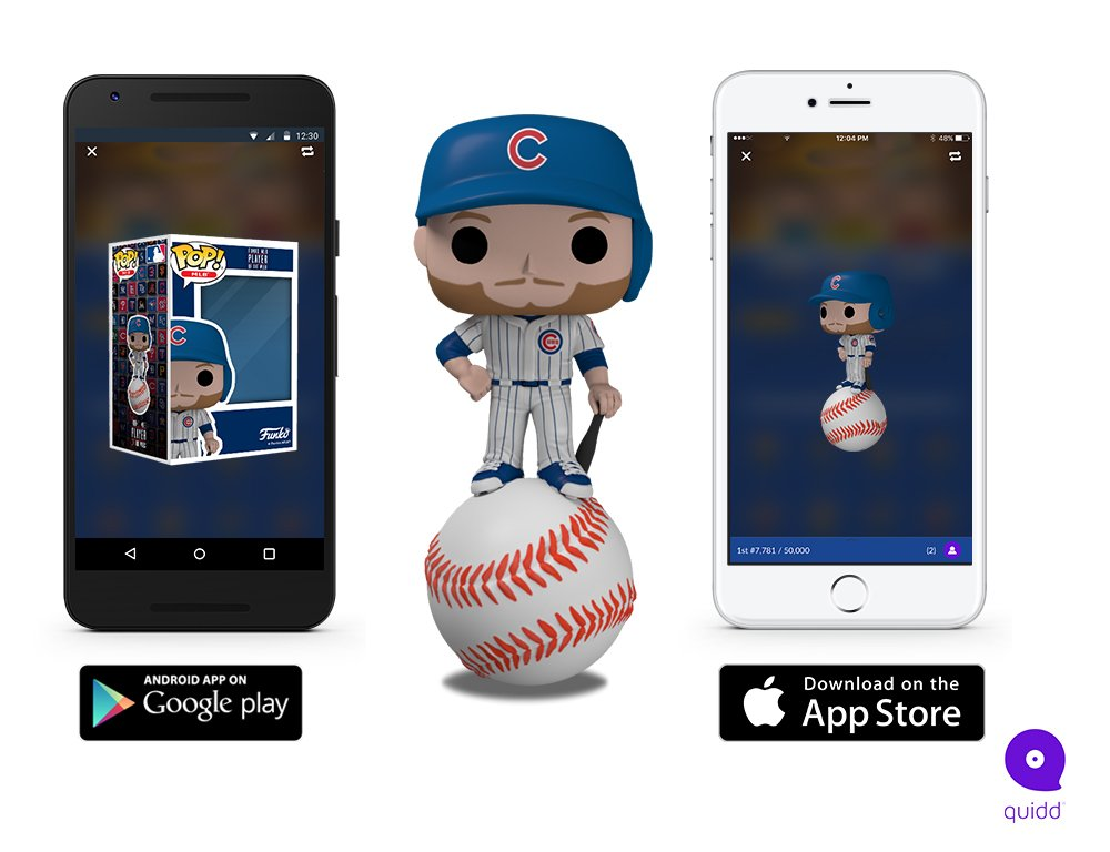 The Funko MLB Player of the Week is David Bote from the @Cubs! His digital Pop! is now available on Quidd! Thanks to everyone who voted on Twitter earlier this week! quidd.co