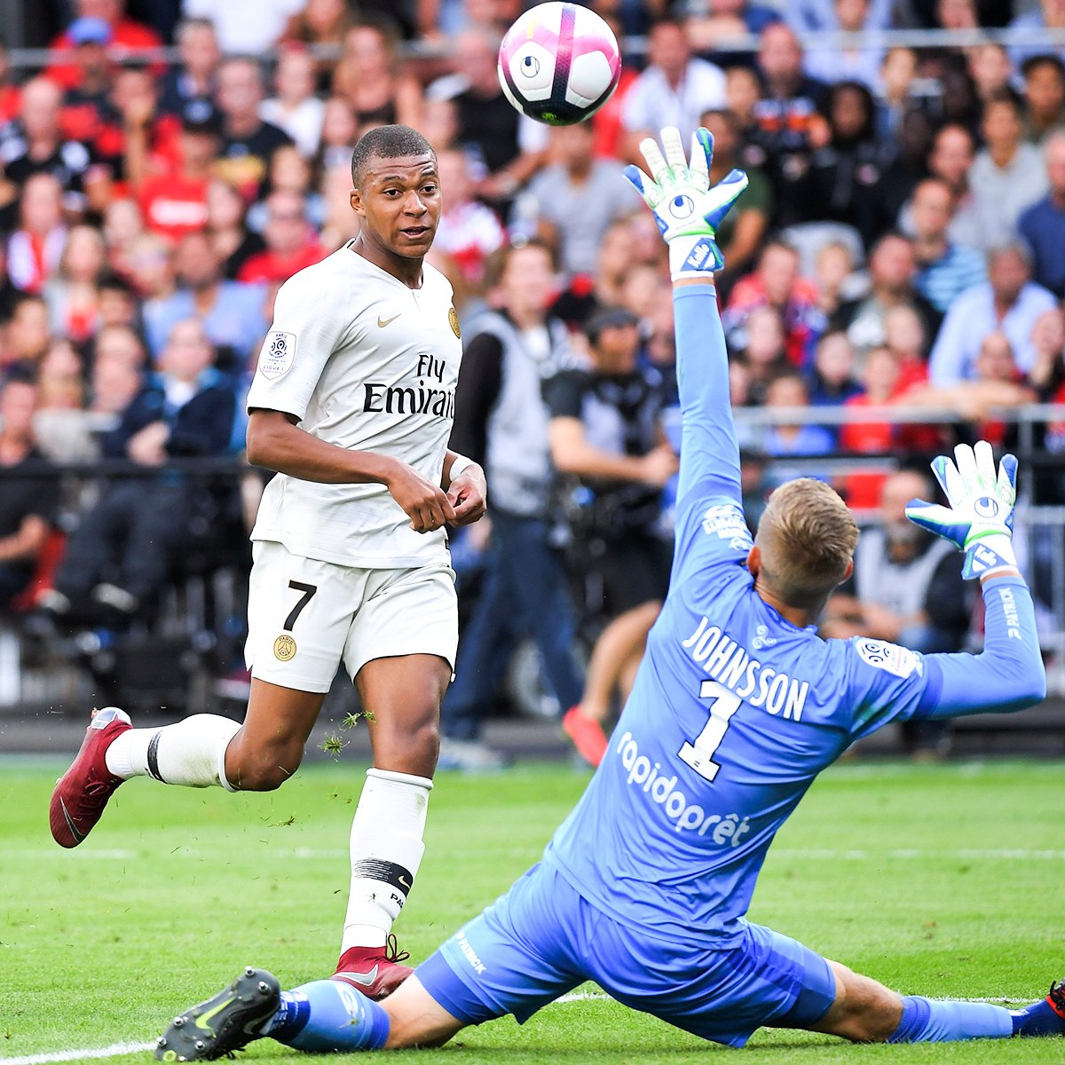 HT: Subbed on with PSG 1-0 down 82&#39;: Scores to make it 2-1 90&#39;: Scores to make it 3-1  @KMbappe bringing that World Cup form back to PSG  <br>http://pic.twitter.com/zL9GPPBA8g