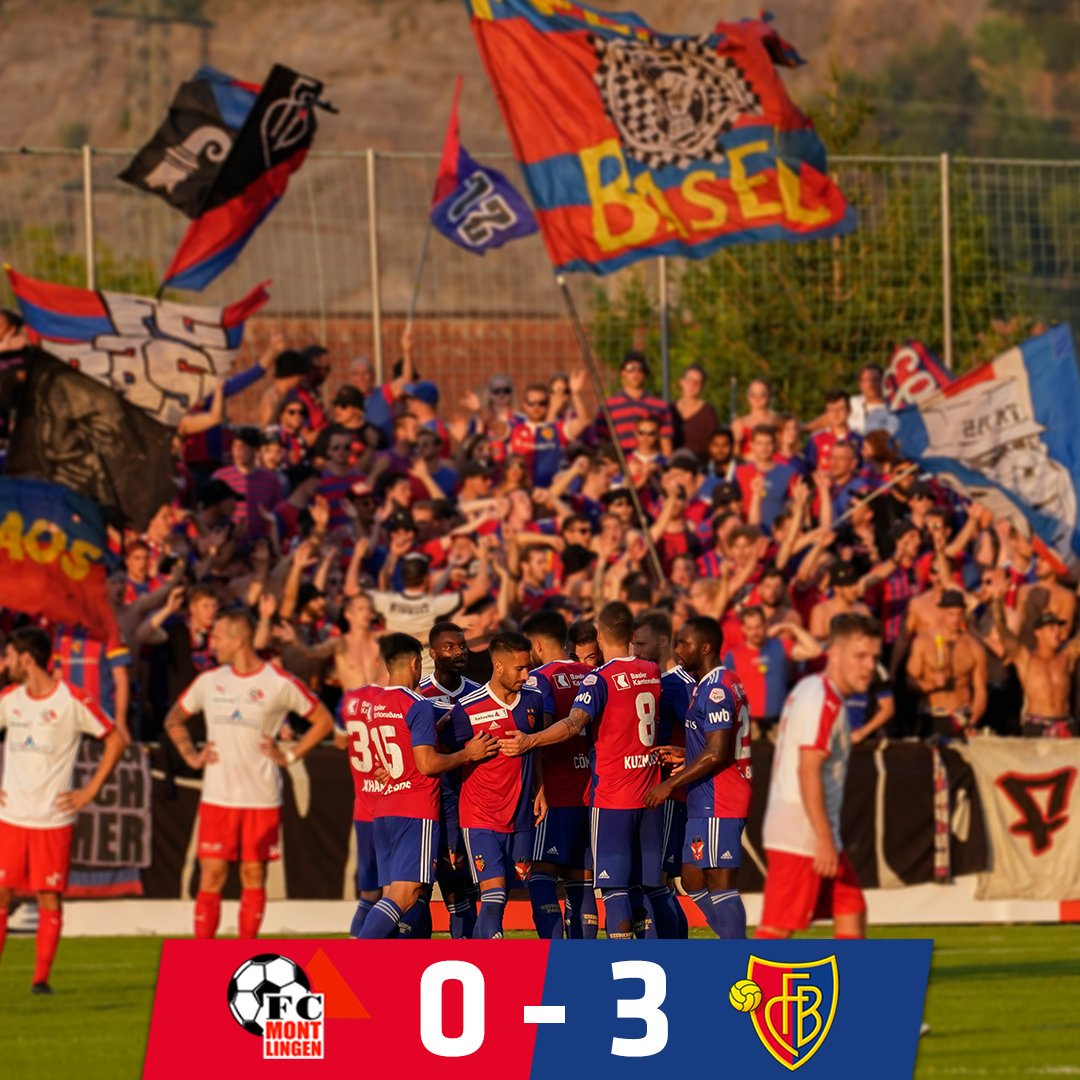 FT   FC Montlingen 0-3 FCB Basel advance to the second round of the @SchweizerCup thanks to goals by Balanta, Bua and Kalulu. #FCBasel1893 #zämmestark