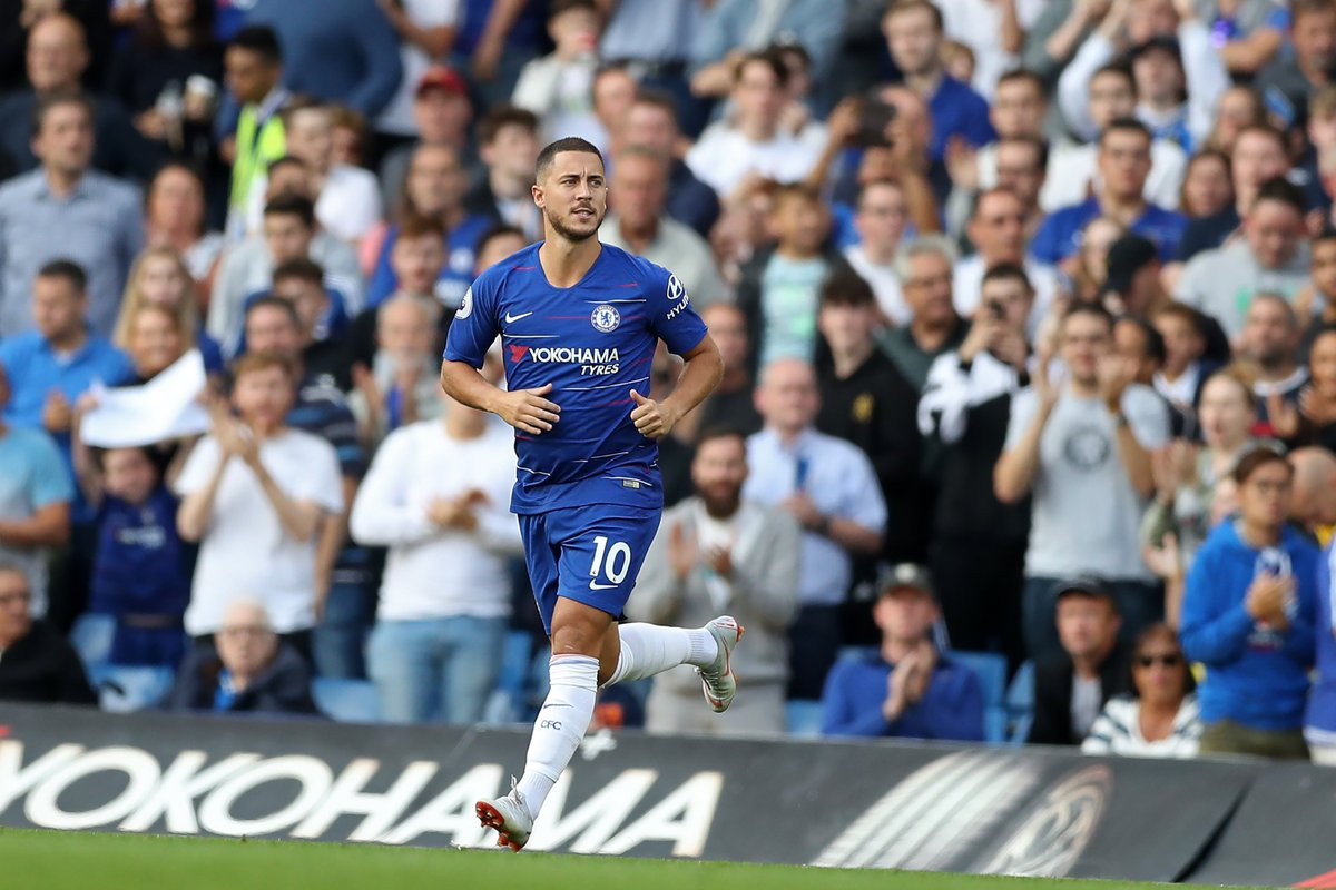 41 - Only Frank Lampard (90), Didier Drogba (55) and Gianfranco Zola (42) have more Premier League assists for Chelsea than Eden Hazard (41). Magician.