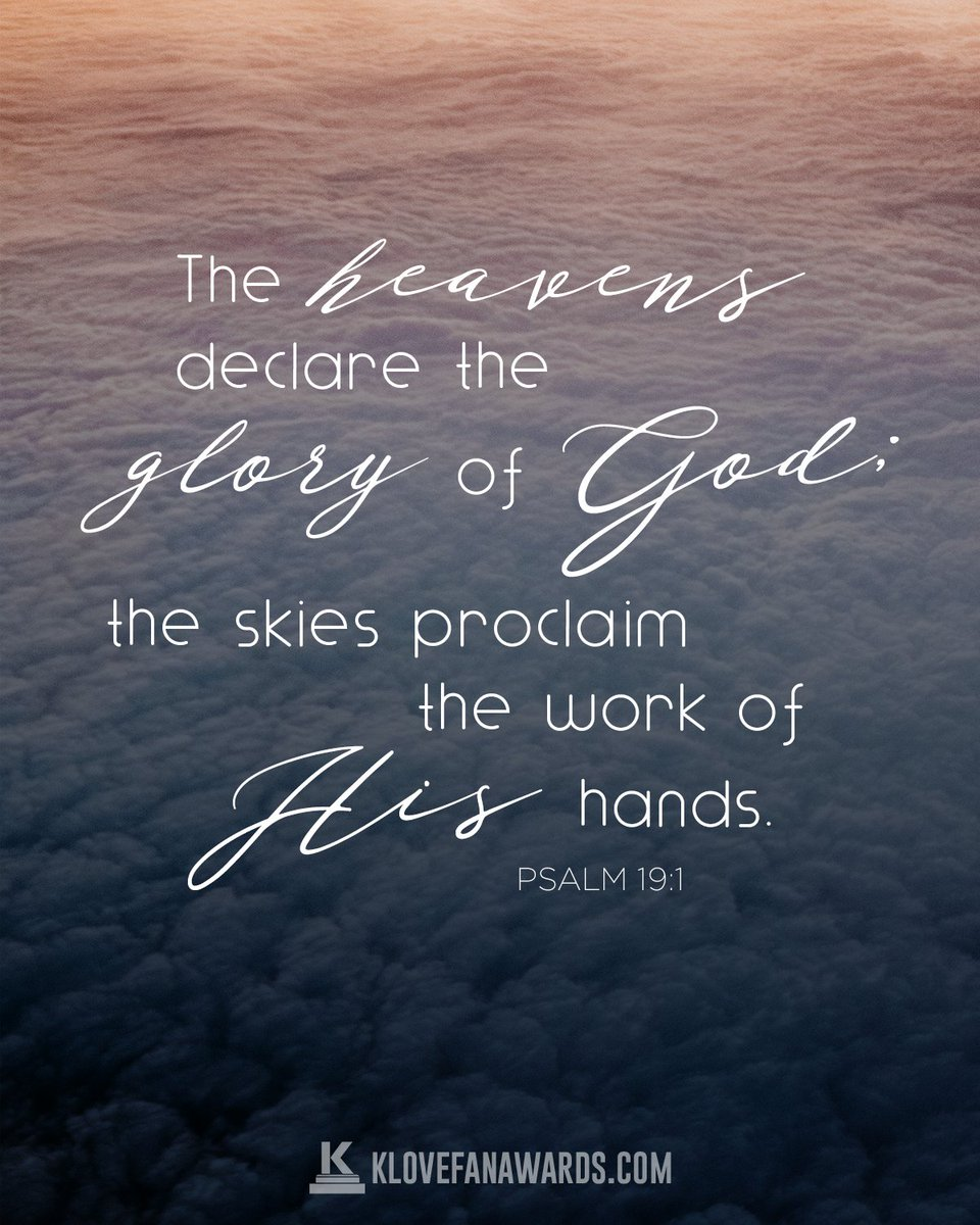 Are you declaring the glory of God in your life? #VOTD #KLOVE