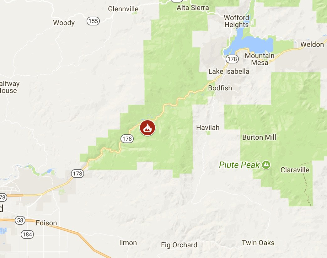 Lake Isabella Fire Map.Cal Fire On Twitter Cal Fire Is Assisting The Sequoiaforest With