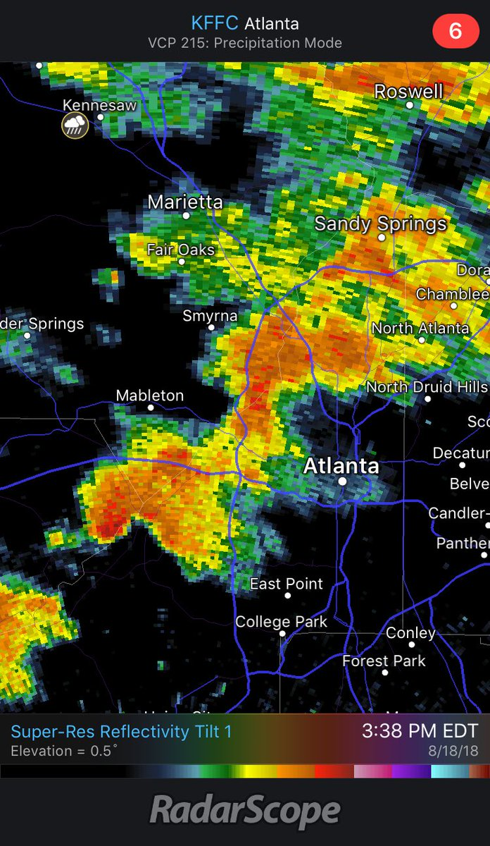 Line of storms coming into #atl right now... ⁦@KatieWallsWSB⁩ is tracking for you