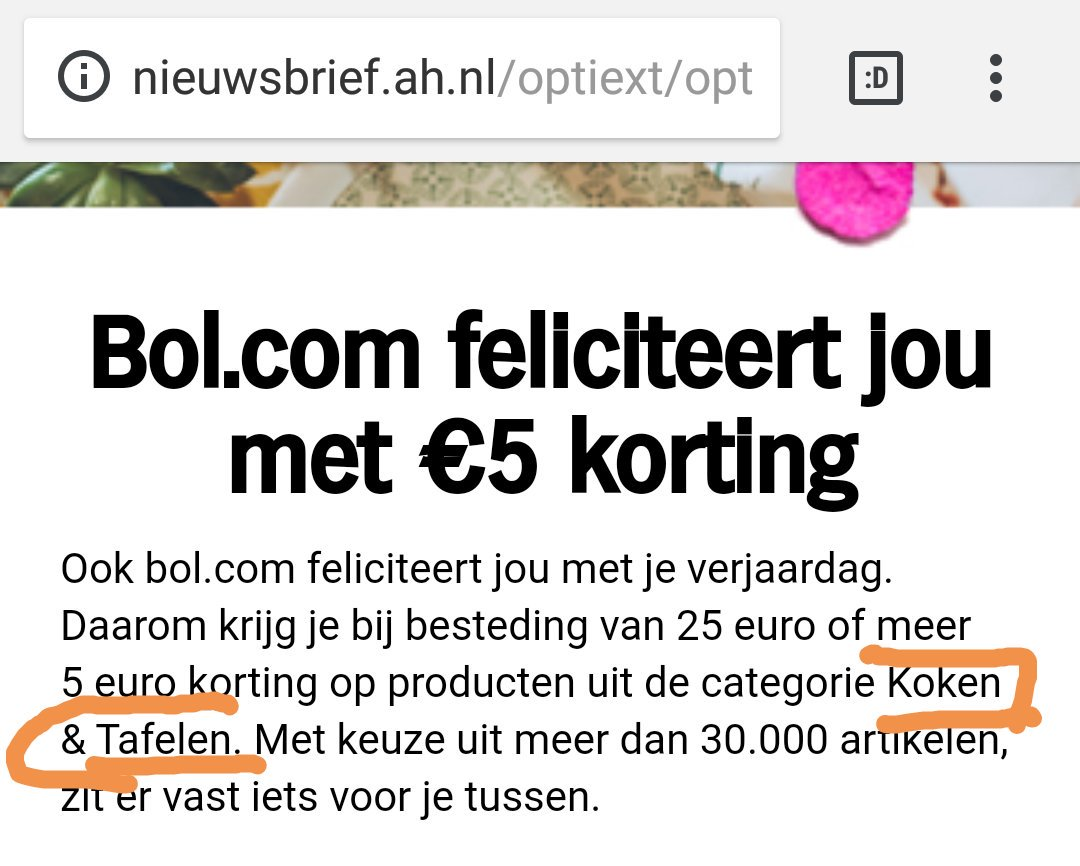 test Twitter Media - Got a birthday gift from @albertheijn  & @bol_com. Discount on category cooking. Hope this is not set based on my #gender #gender_stereotype https://t.co/D5it04tqn3