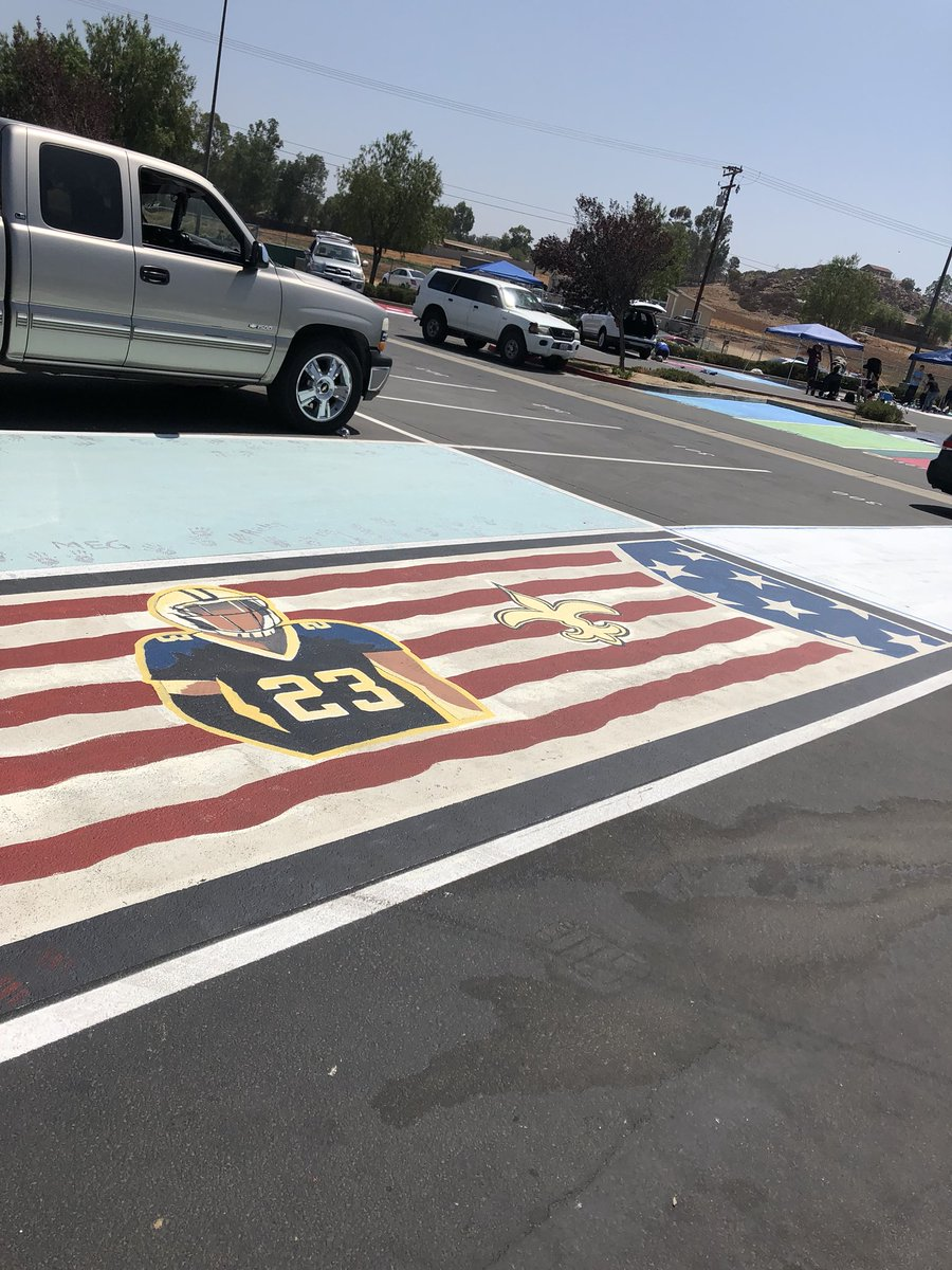 Decided to put you on my senior parking spot. #WhoDat @shonrp2 @Saints