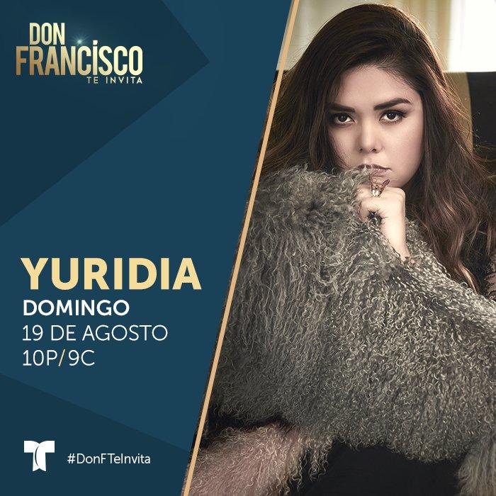 #YuridiaEnDonFTeInvita ¡Es la reina de las baladas y los escenarios! @yuritaflowers hace una parada en su exitoso #DESIERTOTOUR2018 para compartir y cantar en el escenario de #DonFTeInvita su tema #AmigosNoPorFavor #19Agosto