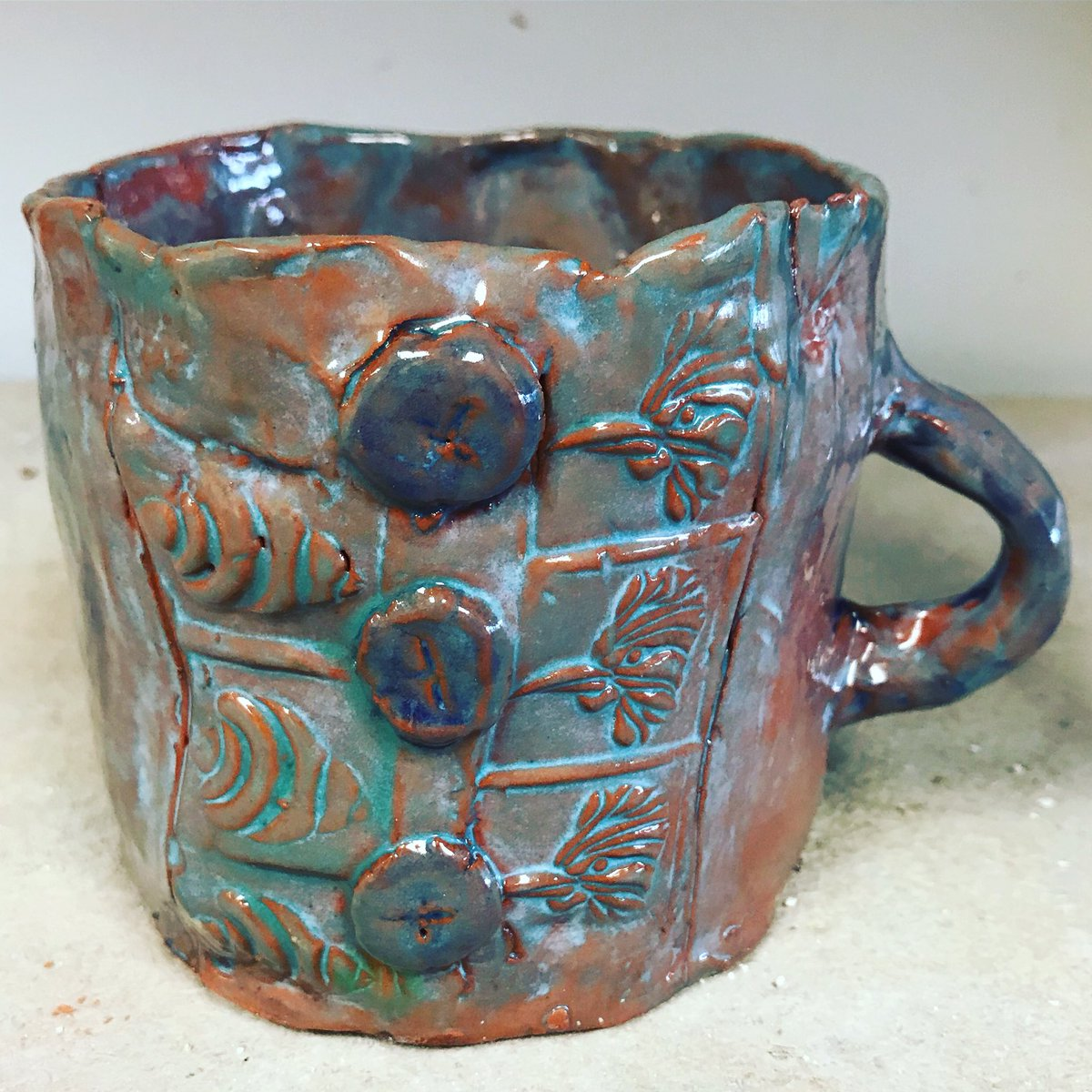 Colorfulpalettes On Twitter Textured Mug On Red Clay Made By A 3rd Grader Clayprojects Ceramicvase Middleschoolart Clay Art Artroom Artworks Artistsoninstagram Teachingartist Artprojectsforkids Artprojects Artlesson Artlessons