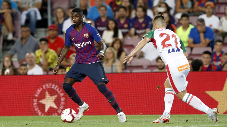 �� Minut 77: Segon canvi al Barça �� Arthur �� Dembélé #BarçaAlavés https://t.co/Ag4a6TEjs0