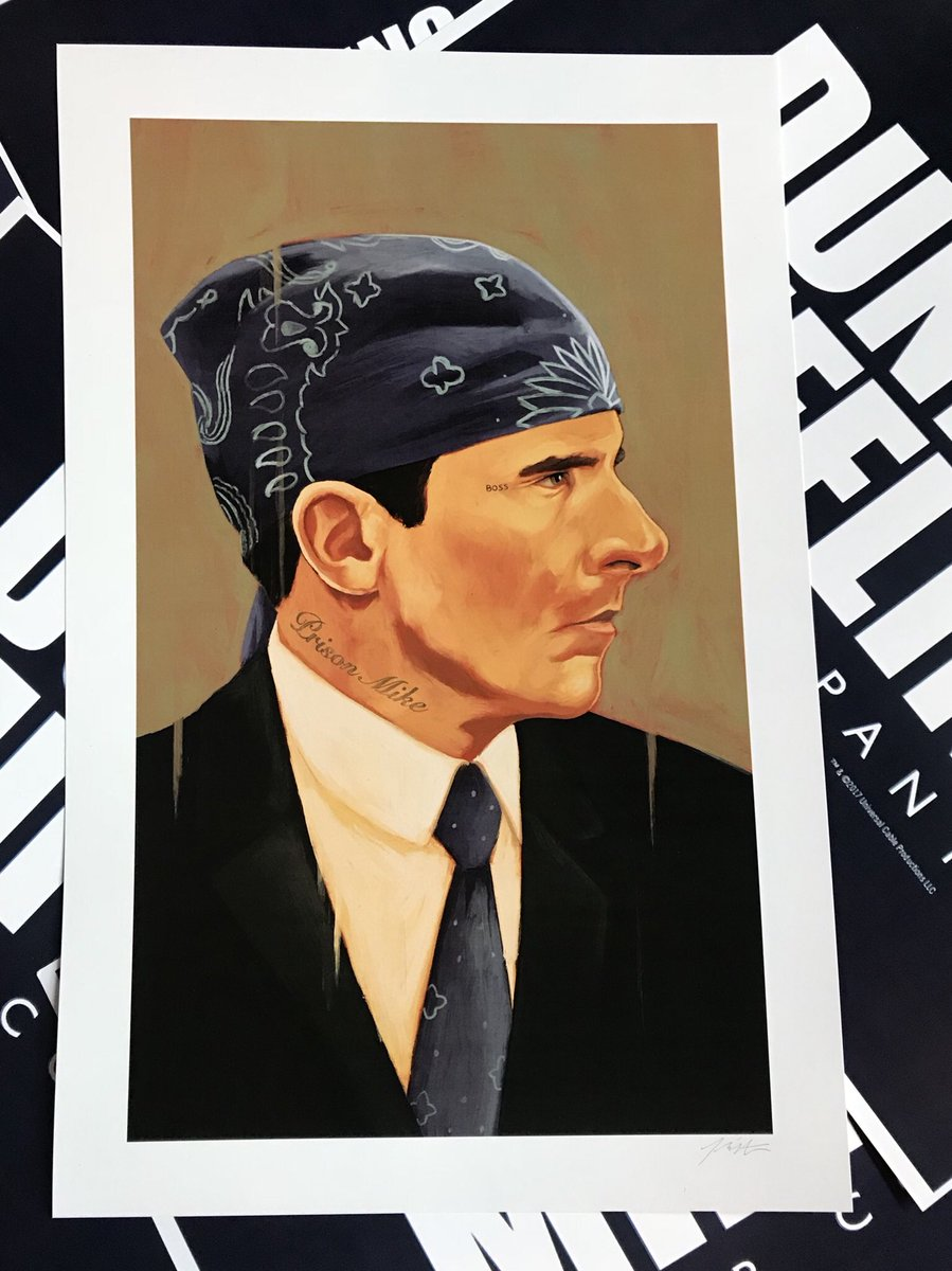 6a297815f FOLLOW & RETWEET for your chance to win your choice of a Lazy Scranton or Prison  Mike art prints! #theoffice #dundermifflin #poster #lazyscranton ...