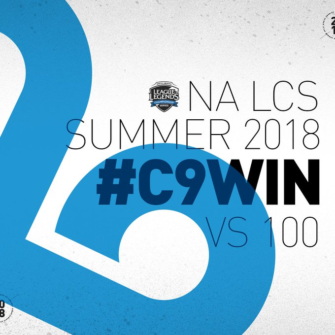 .@Cloud9 with seven straight wins after taking down @100Thieves! #NALCS #C9WIN Foto