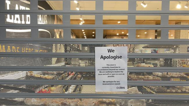 Coles stores closed due to register glitch