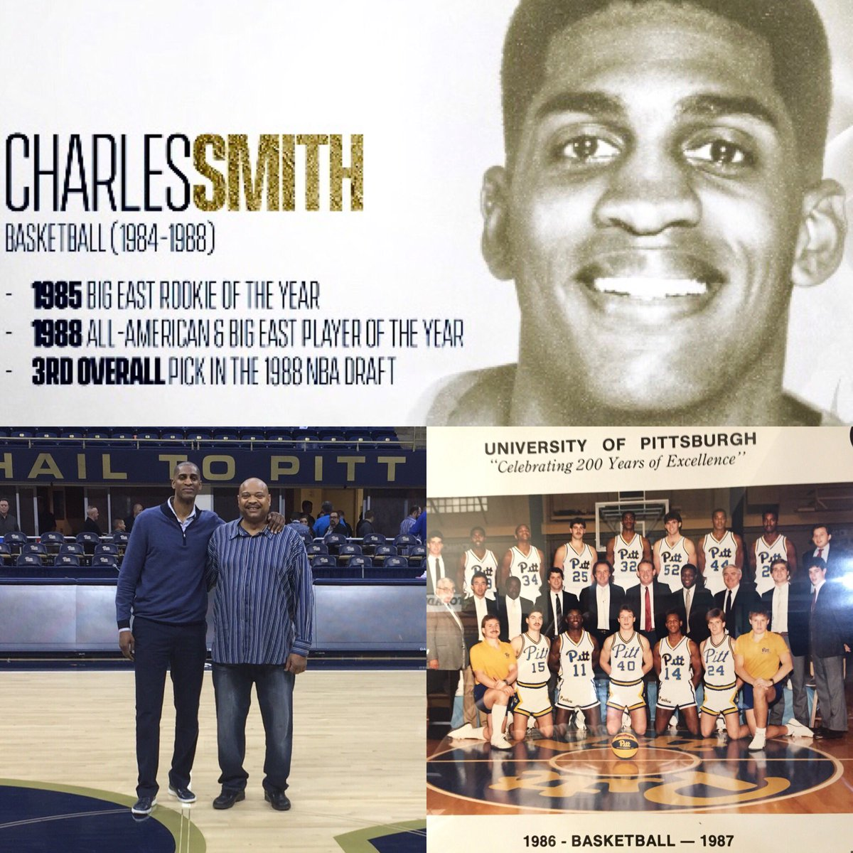 Grateful to be inducted into the University of Pittsburgh Hall of Fame. #H2P #pittbasketball