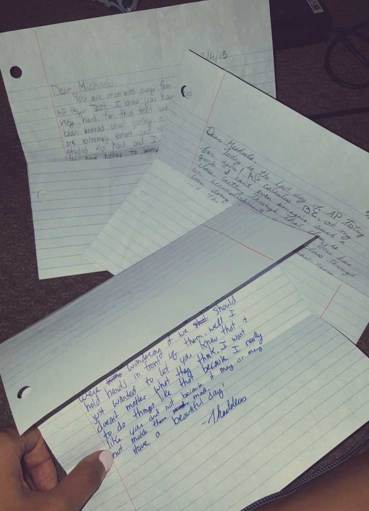 also found letters my bf wrote to me in high school. peter kavinskys are real, y'all