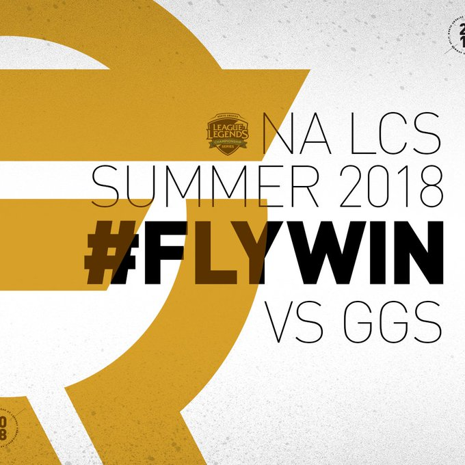 .@FlyQuestSports makes playoffs after taking down @GoldenGuardians! #NALCS #FLYWIN Foto