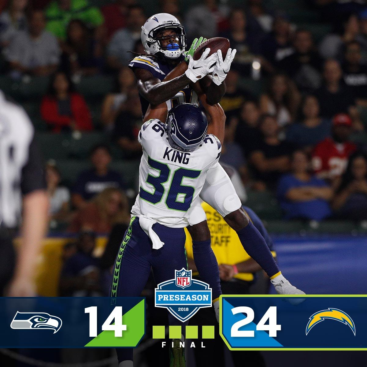 FINAL: The @Chargers WIN!  #SEAvsLAC #NFLPreseason https://t.co/q03qEITE7d