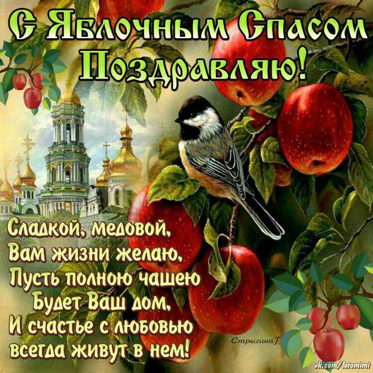 Картинки с поздравлениями с яблочным спасом, открытку дню