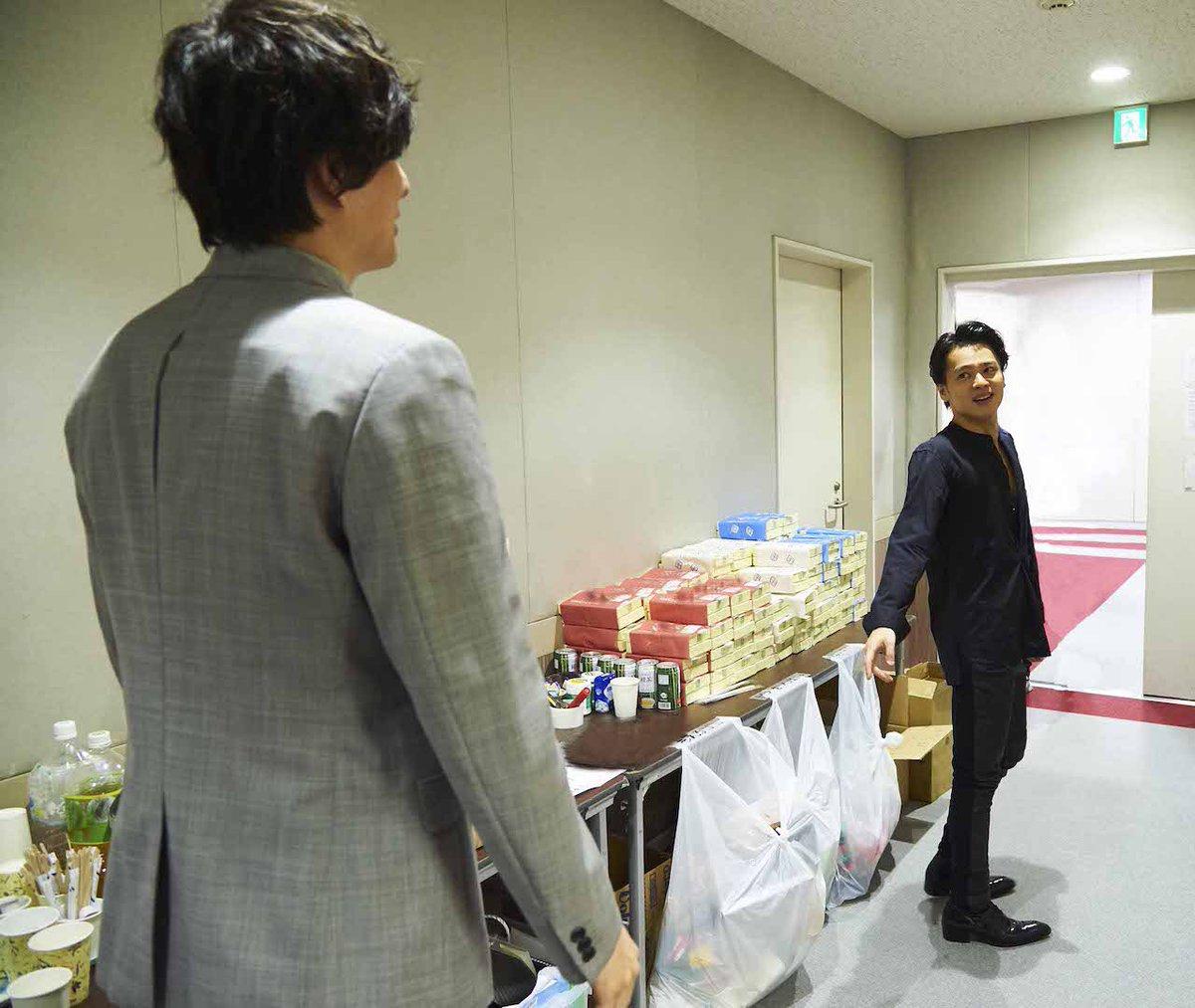 さらに収録時のオフショット これから収録の 城田優 さんへ「頑張ってね~!」と、収録終わりの 中川晃